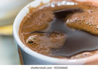 Black Turkish coffee