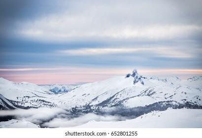 Black Tusk peak viewed from Whistler, BC.