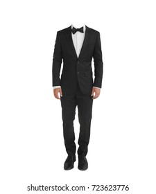 black tuxedo suit - isolated with clipping path