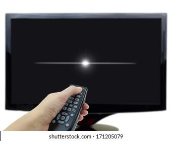 black-tv-display-hand-remote-260nw-17120