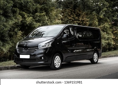 Black Van for delivery or transport- March, 2019, Strunjan, Slovenia