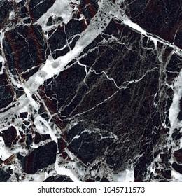 Black Vein Marble Background. (High Res.)