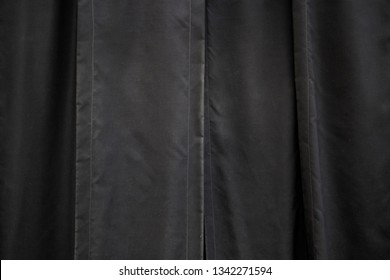 Black velvet curtain, decoration detail