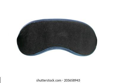 Black velvet eye mask on white background
