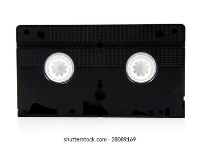 black video tape, isolated on white background