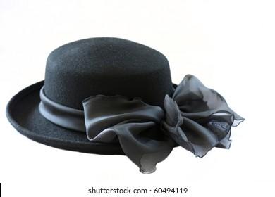 black vintage hat isolated