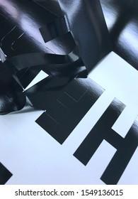 Black Vinyl Film Weeding Process