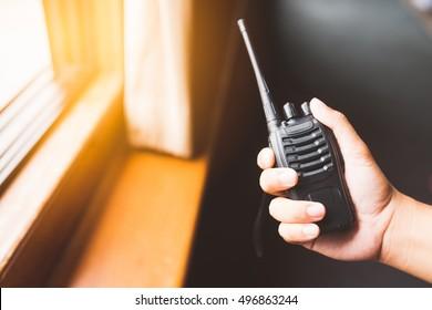 Black walkie talkie Handheld,Handheld walkie talkie for indoor.