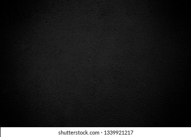 Black wall texture pattern rough background. Old black grunge background. Dark wallpaper copy space for design.