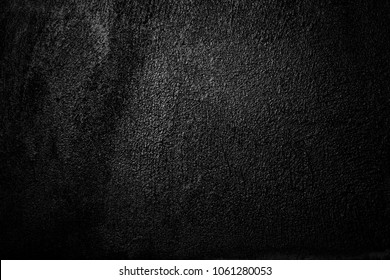 Black wall texture rough background / dark concrete floor, old grunge background with black