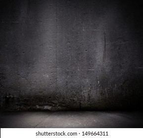 Black wall textured empty design. Background image