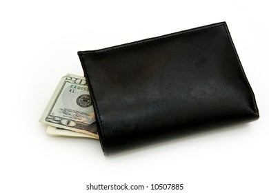 Black wallet isolated on white