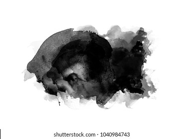 Black water color graphic color brush strokes patches effect background