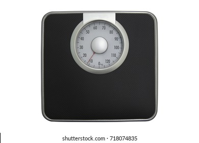 Black Weighing scales are used for health planning.