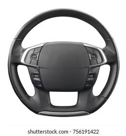 black wheel on white background