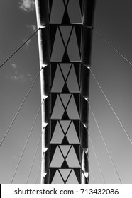 black and while toronto humber bay arch bridge