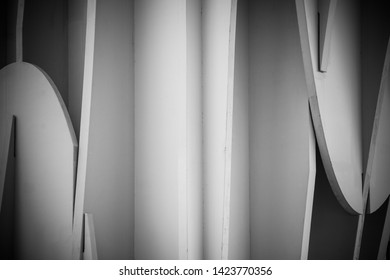 Black and white abstract architectural composition. Seville. Andalusia. Spain