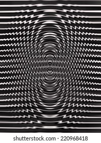 Black and White Abstract Psychedelic Art Background