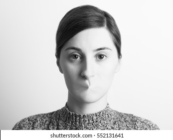 Black and White Abstract Woman Portrait Of Freedom Of Speech Concept