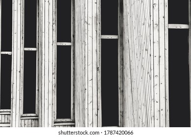 Black and white abstraction from old windows