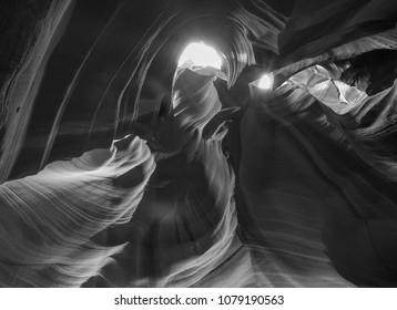 Black and White Antelope Canyon