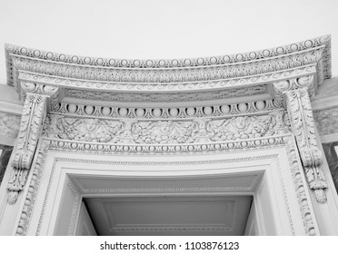 Black and white architecture detail