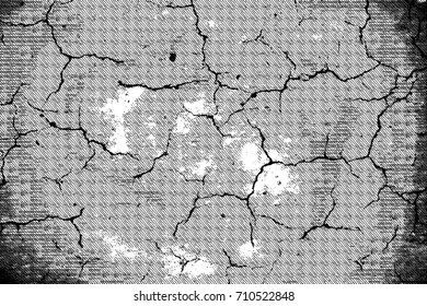 Black and white background from cracks, stains, chips