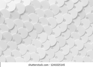 Black and White background sequin. Abstract glitter background with blinking lights. Fabric sequins in white color. Fashion fabric glitter, sequins. Wedding wallpaper.