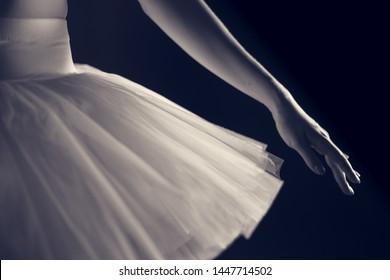 black and white ballerinas, art photo