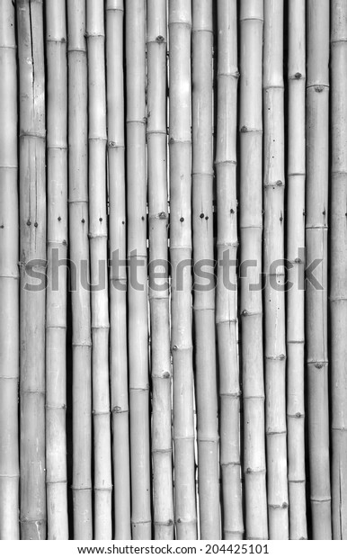 black and white bamboo fence background