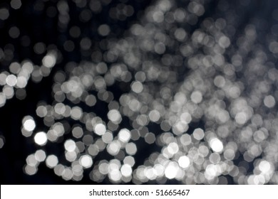 black and white bokeh background