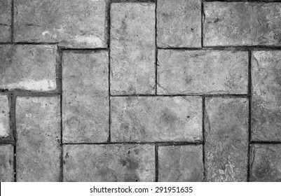 black and white brick on the floor