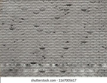 The black and white brick wall style design for loft background. Interior decoration.