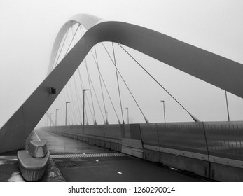 Black and White bridge Oversteek near Nijmegen, Holland