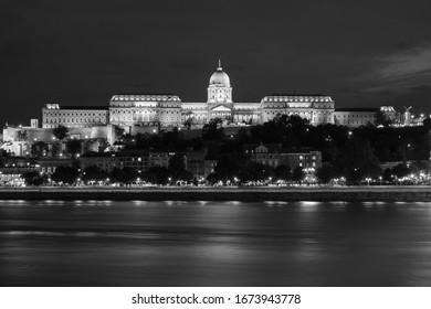 Black and white Budapest views