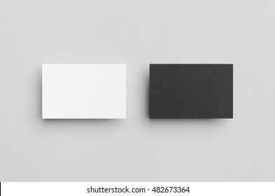 Black & White Business Card Mock-Up (85x55mm)