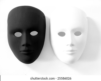 black and white carnival masks