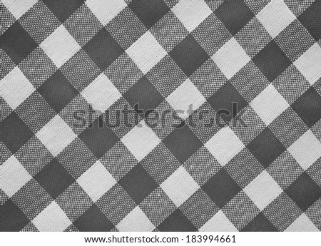 Black White Checkered Fabric Closeup Tablecloth Stock Photo Edit