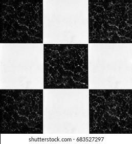 Black and white checkered floor