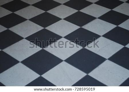 Black White Checkered Tile Floor Background Stock Photo Edit Now