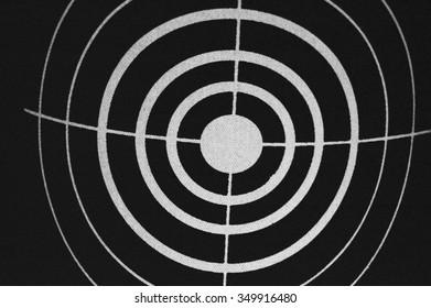 black and white circular target