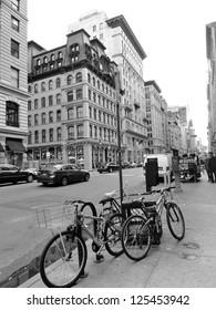 Black and White City Bike