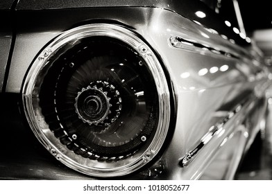 Black & White Classic Car taillight
