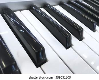 Black and white classic piano keyboard