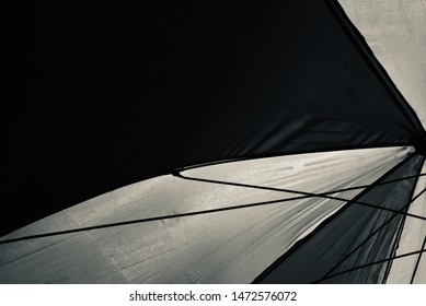 Black and white clothes of an umbrella unique photo