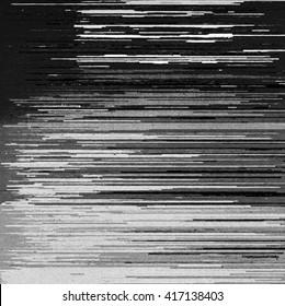 Black and white computer glitch texture
