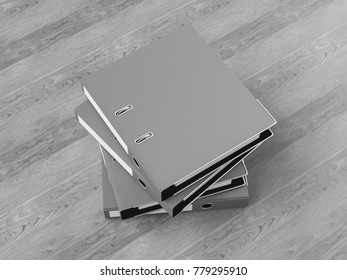 Black and white Corporate Identity. Branding Mock Up. Office supplies, Gadgets. 3D illustration. High quality