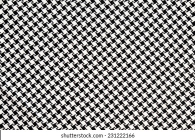 Black and White Cotton Texture, houndstooth pattern.
