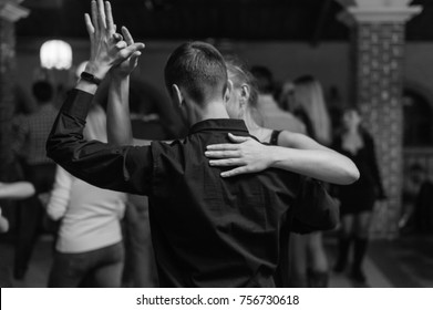 Black and white couple dance bachata salsa dance with beautiful hands