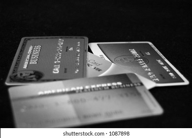 Black and white creditcards